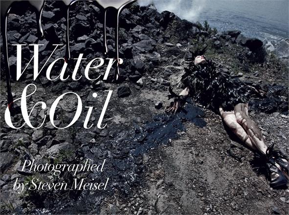 vogue italy water&oil steven meisel