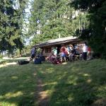 Ankunft an der Alpila Hütte auf dem Kuhgrat