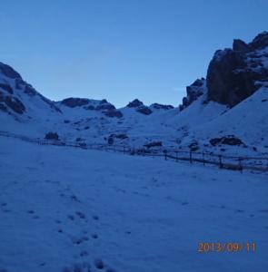 Frühmorgens im Schnee
