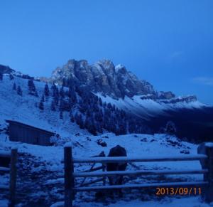 Geisslergruppe nach Schneefall