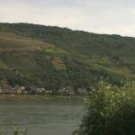 Zugfahrt am Rhein
