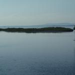 Insel in der Ach Mündung