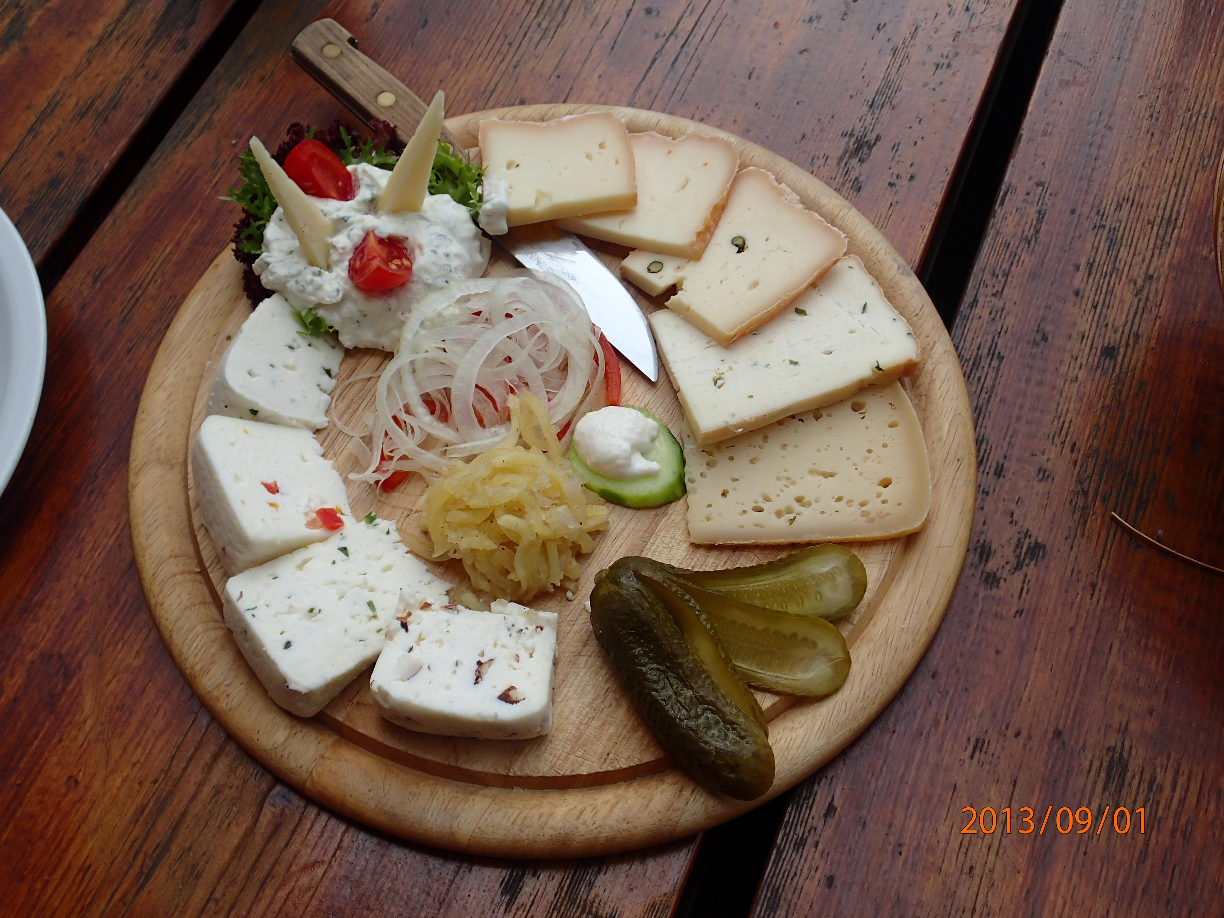 Käseteller auf der Kasiriler Alm