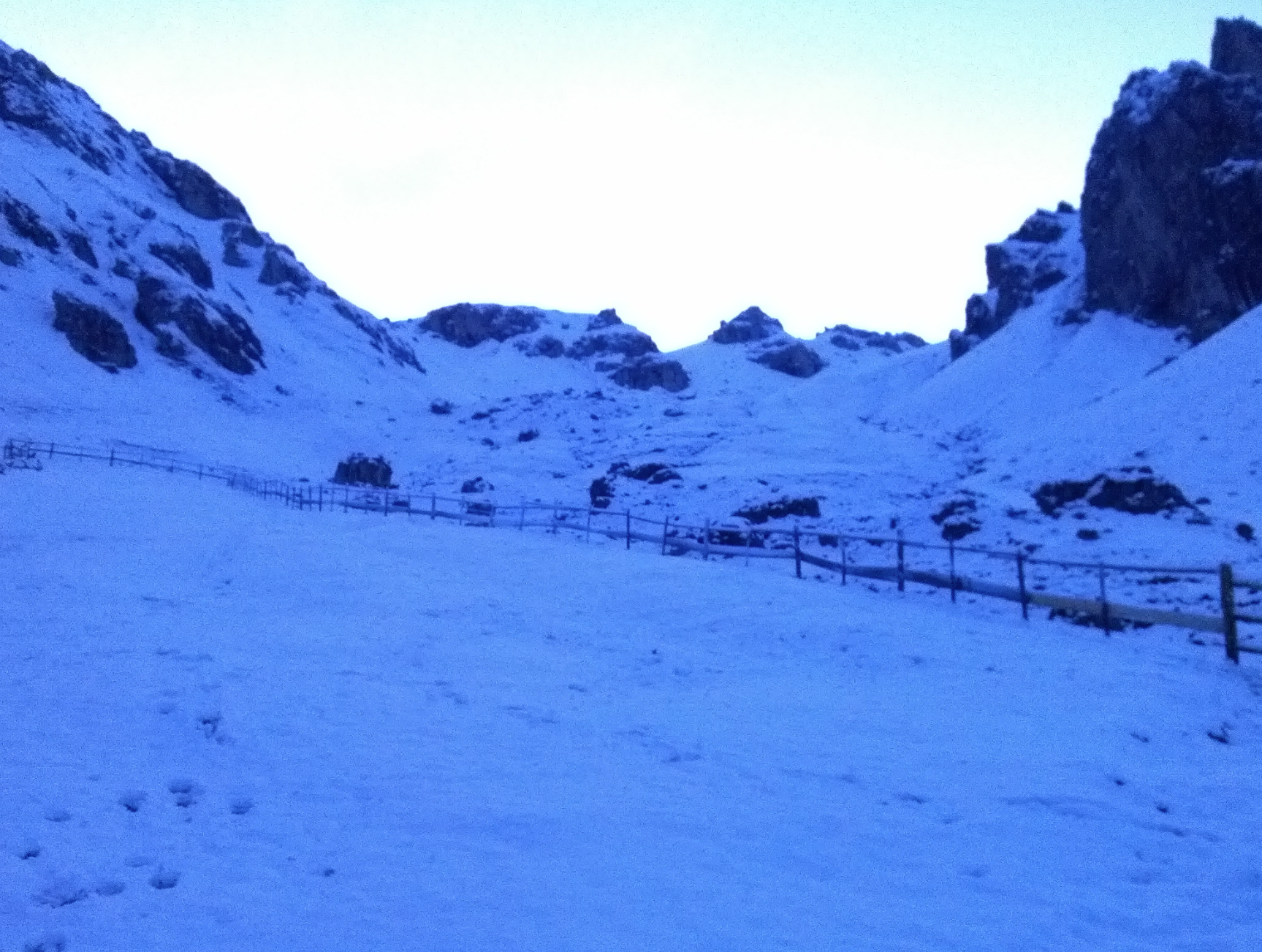 Wörndle Loch nach Schneefall