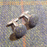 Petrol-Blue-Tweed-Cufflinks