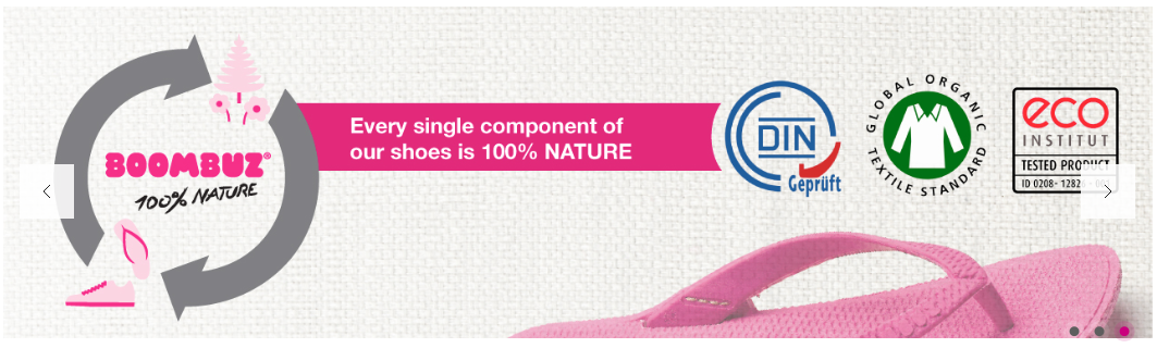 BOOMBUZ kompostierbare Schuhe