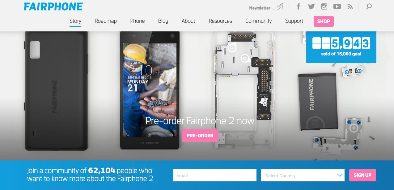 Fairphone 2 bestellen