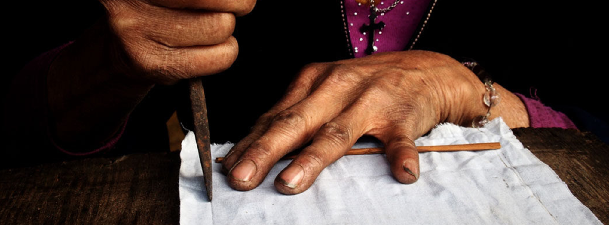 White Hmong Woman Artisan Bags Vietnam